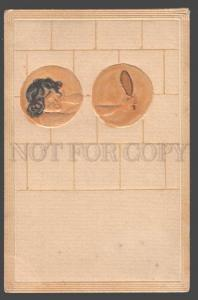 3097798 ART NOUVEAU Woman w/ Mirror by KIRCHNER vintage MMP