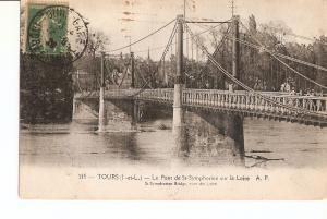 Postal 027747 : Tours, Le Pont de St-Symphorien sur la Loire A.P.