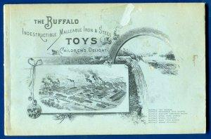 Buffalo Iron & Steel Toys replica 1894 Catalogue Metal Wheeled cars Trains