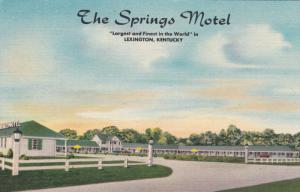LEXINGTON, Kentucky, 1930-1940's; The Springs Motel