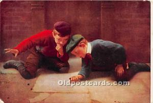 Boys Playing Marbles Marbles 1908 might be trimmed