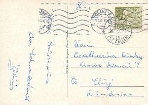 Switzerland map souvenir Postcard