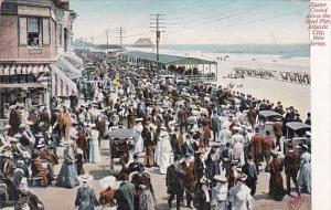 New Jersey Atlantic City Easter Crowd Above The Steel Pier