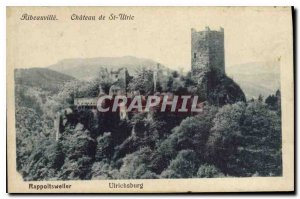 Old Postcard Ribeauville Chateau St Ulric