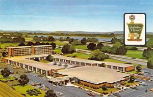 East Springfield Illinois~Holiday Inn Motel~Route 66~1970 Postcard