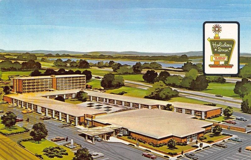 East Springfield Illinois~Holiday Inn Motel~Route 66~1970 Postcard