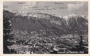 Post Card Austria Tirol Innsbruck mit Nordkette