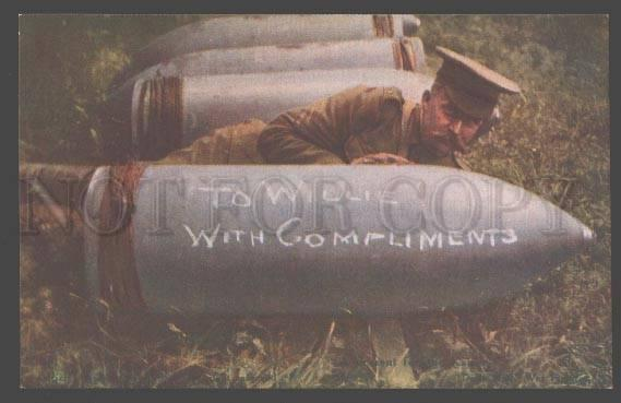098216 WWI ENGLISH PROPAGANDA To Willie w/ Compliments Vintage