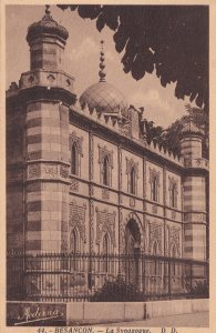 Besancon France Jewish Synagogue Antique Postcard