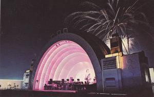 Night View, Illuminated World Famous Bandshell, Canadian National Exhibitio...