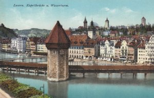 LUZERN, Switzerland, 1900-10s; Kapellbrucke u. Wasserturm