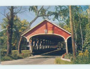 Pre-1980 COVERED BRIDGE Lancaster - Near Littleton & Berlin NH H7701