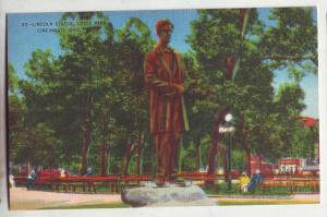P952 linen card lincoln statue lytle park cincinnati ohio
