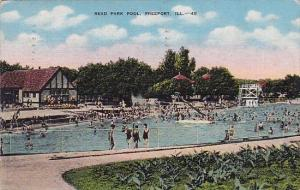 Read Park Pool Freeport Illinois 1949