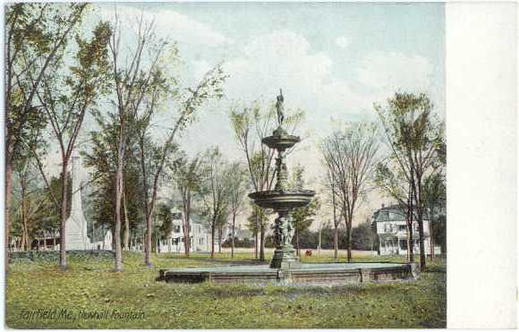 Newhall Fountain, Fairfield Maine, ME, UNDivided Back