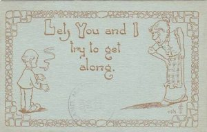 Fred Cavally Comic Verse Series Lets you and I try to get along 1912