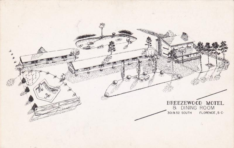 FLORENCE , South Carolina, 1940-50s ; Breezewood Motel, U.S. 301