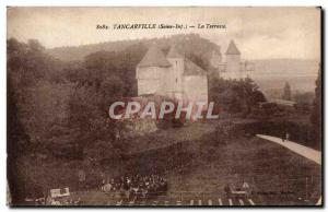 Tancarville - La Terrasse - Old Postcard