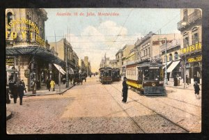 Mint Uruguay Color picture Postcard PPC Montevideo 18 Of July Avenue