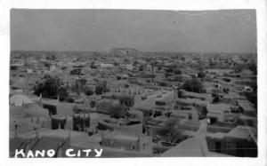 Kano Nigeria Birdseye View Of Town Real Photo Antique Postcard K23562