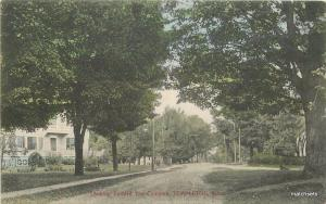 C-1910 Templeton Massachusetts Looking Common Residences AMS hand colored 5294