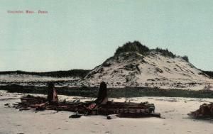 GLOUCESTER , Massachusetts, 1900-10s ; Shipwreck on dunes