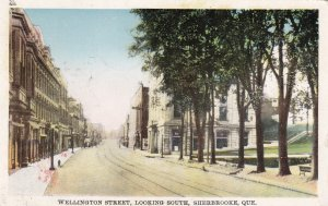 SHERBROOKE, Quebec, Canada; Wellington Street, Looking South, PU-1927