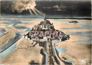 Modern Postcard Mont Saint Michel Aerienne Channel View