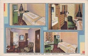 Illinois Chicago Y M C A Hotel Guest Rooms Curteich