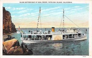 5431  CA Catalina Island   Glass Bottom Boat at Seal Rocks