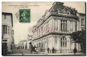 Old Postcard Bank Caisse d & # 39Epargne Rue Thiers Rocherfort Sea