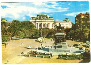 Bulgaria, Sofia, Place Narodno sobranie, used Postcard