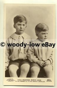 r0157 - Princess Mary's sons George & Gerald Lascelles - postcard
