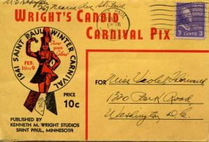 MN - St Paul. ***RARE*** Folder of 1941 Winter Carnival. 112 pictures plus na...