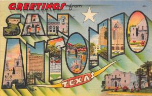 4697 LARGE LETTER Greetings from San Antonio, Texas