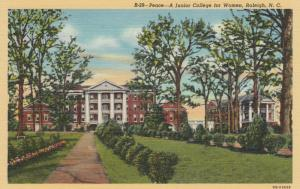 RALEIGH, North Carolina, 30-40s; Peace - A Junior College for Women