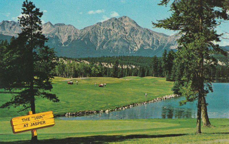 JASPER PARK LODGE , Alberta , Canada , 50-60s ; The 16th Golf Course