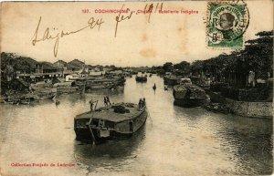 VIETNAM INDOCHINE - Cochinchine - Chelon - Batellerie indigéne (190219)