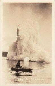 RP: CORDOVA , Alaska , 1920s ; Iceberg & Eskimo