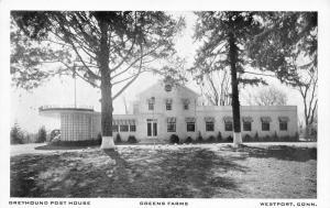 Westport CT~Greyhound Post House Restaurant~Greens Farms~ART DECO~1940s B&W PC
