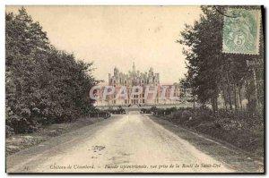 Old Postcard Chateau De Chambord Facade North Vue Prize De La Route De Saint Dye