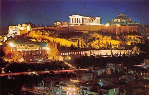 Greece Athens Acropolis by Night Athenes L'Acropole vue la Nuit