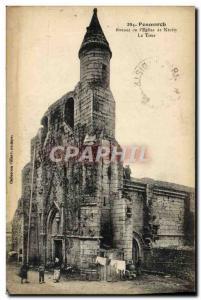Old Postcard Penmarch From Ruins & # 39Eglise Kerity De La Tour