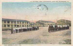CAMP LEE, VA, PU-1918; U.S. National Army Contonment, First Lesson in Army Life