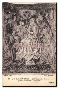 Old Postcard Aix en Provence Cathedrale Saint Sauveur XVI century Flemish tap...