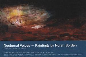 Nocturnal Voices by Norah Borden Railspur Alley Studios Granvuille Island Van...
