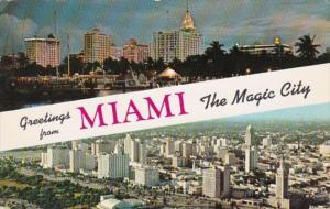 Florida Miami Greetings From The Magic City 1957