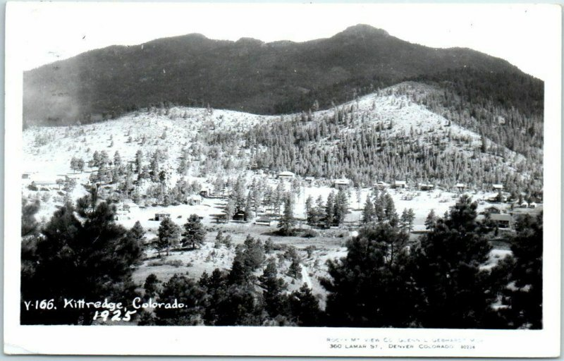 Kittredge, Colorado RPPC Postcard Bird's-Eye Panorama Town View - Gebhardt Photo