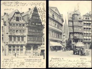 germany, 2x pc FRANKFURT a. M., Römerberg (1906) Stamps
