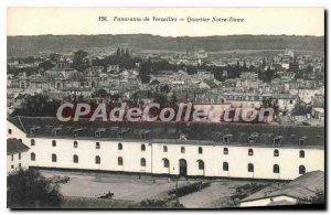 Postcard Old Versailles View Neighborhood Notre Dame